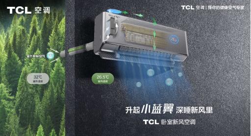瞄准细分圈层,TCL卧室新风空调站在市场新风口
